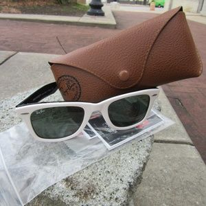 Ray-Ban Accessories - Ray Bans White Wayfarer Like NEW with case, etc.